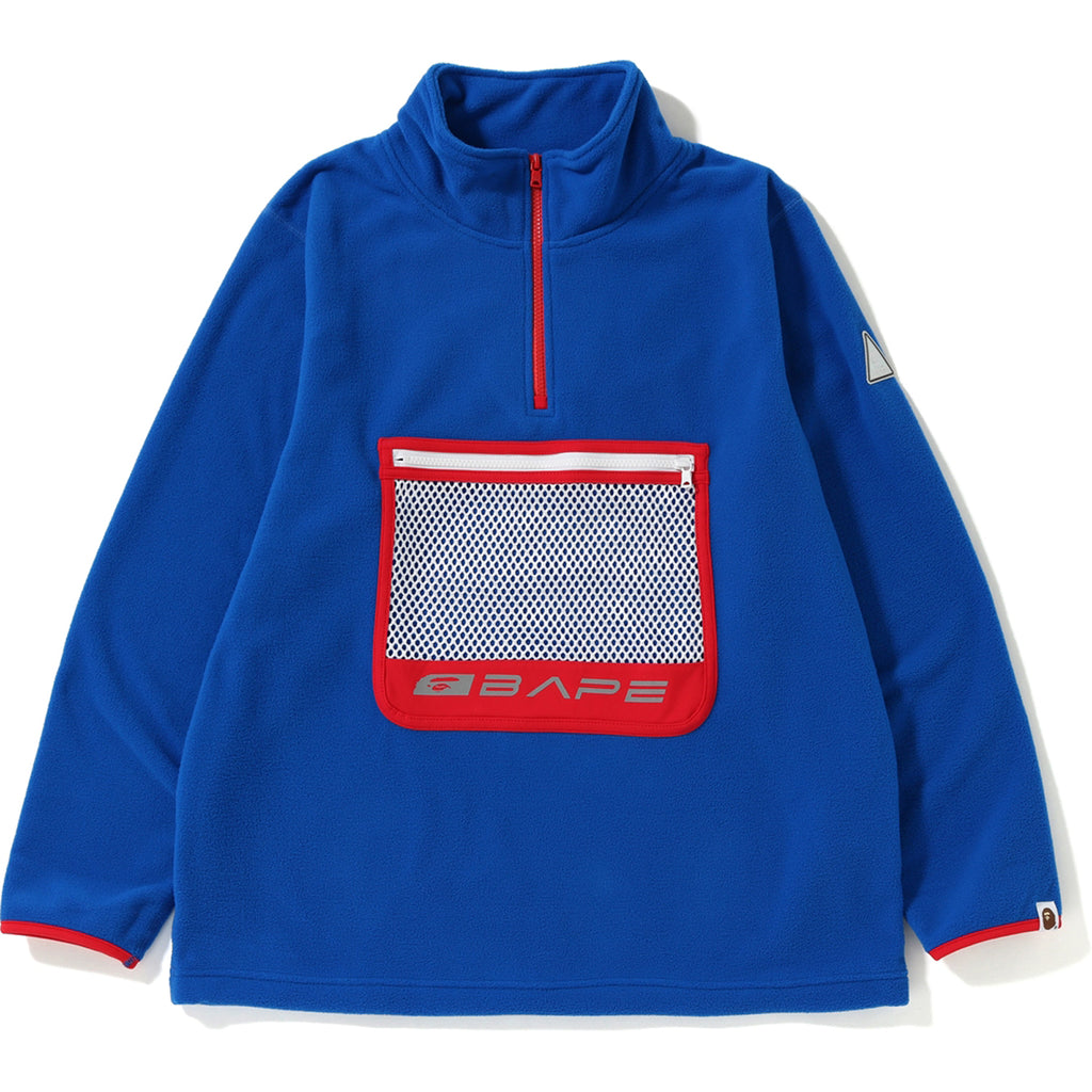 HALF ZIP WIDE FLEECE TOP MENS