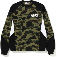 1ST CAMO COLOR BLOCK CREWNECK MENS