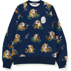 TIGER PATTERN CREWNECK MENS