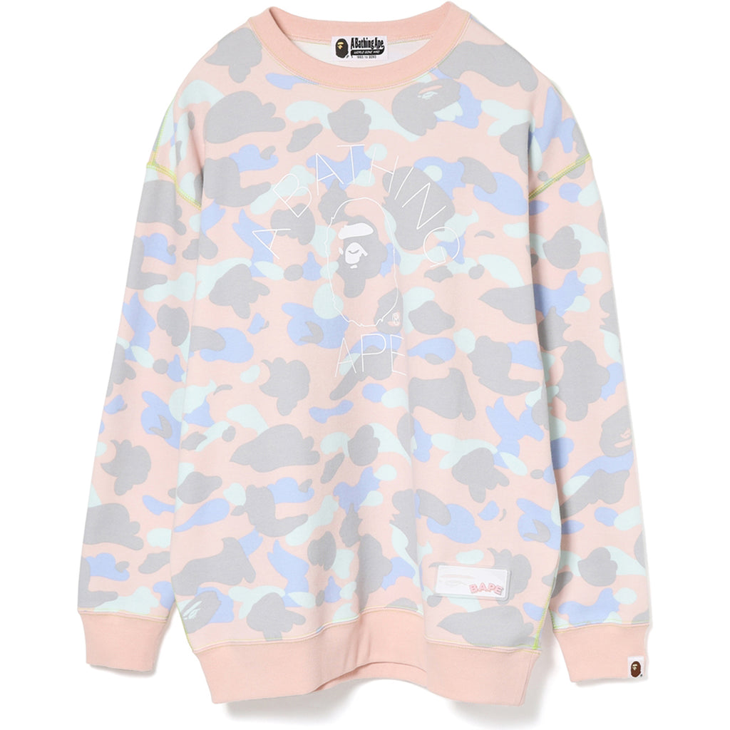 PASTEL MULTI CAMO OVERSIZED CREWNECK LADIES