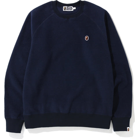 FLEECE ONE POINT CREWNECK MENS