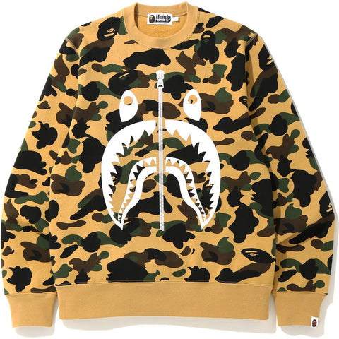 1ST CAMO SHARK CREWNECK MENS