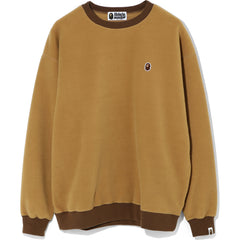 FLEECE ONE POINT OVERSIZED CREWNECK LADIES