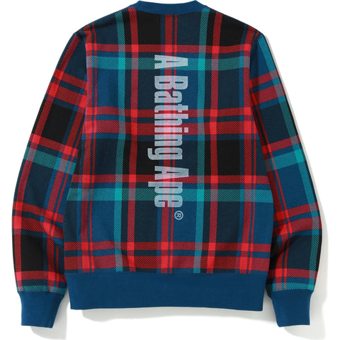 BAPE CHECK CREWNECK MENS