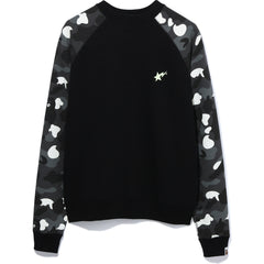 CITY CAMO BAPESTA WIDE CREWNECK LADIES