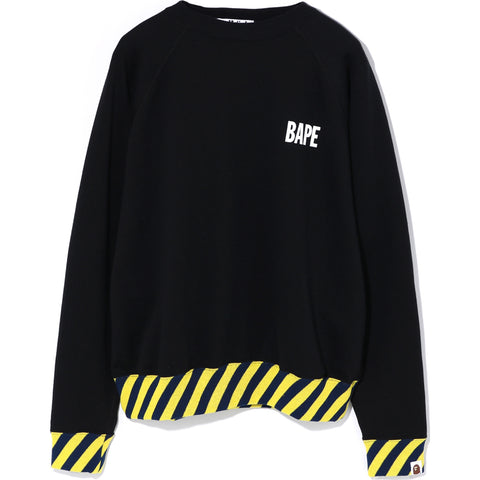 STRIPE RIB WIDE CREWNECK LADIES