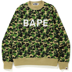 ABC CAMO BAPE CREWNECK MENS