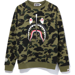1ST CAMO SHARK CREWNECK LADIES