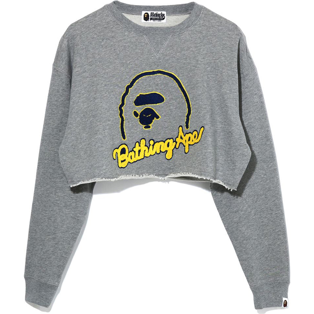 APE HEAD CUT OFF CREWNECK LADIES