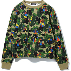 ABC CAMO FLOWER CREWNECK LADIES