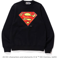 BAPE X DC MADISON AVENUE SUPERMAN CREWNECK MENS