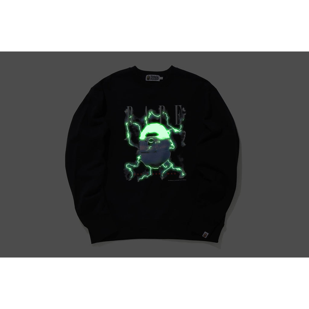 BAPE LIGHTNING RELAXED CREWNECK MENS