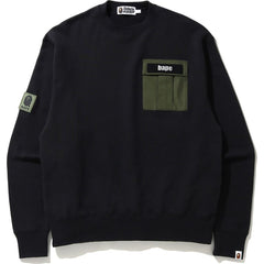 MILITARY POCKET RELAXED CREWNECK MENS