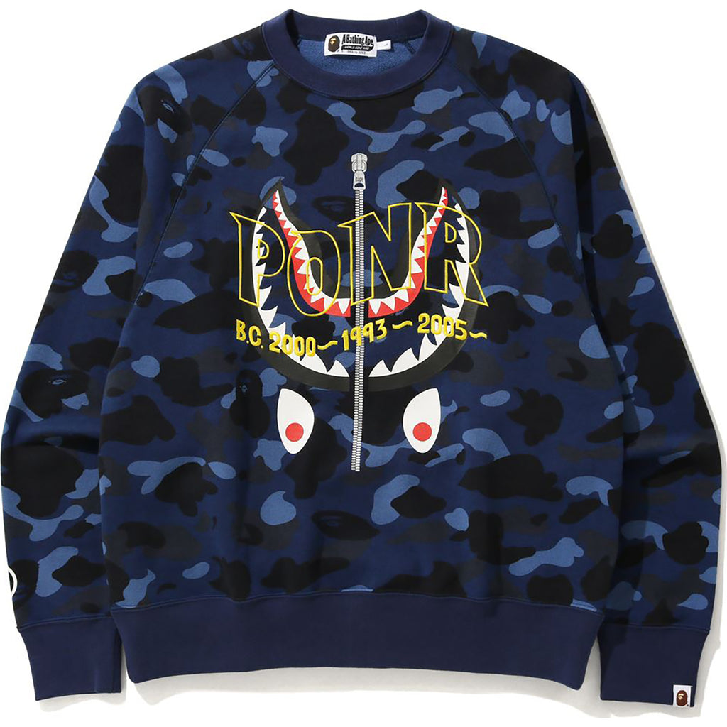 COLOR CAMO SHARK CREWNECK MENS