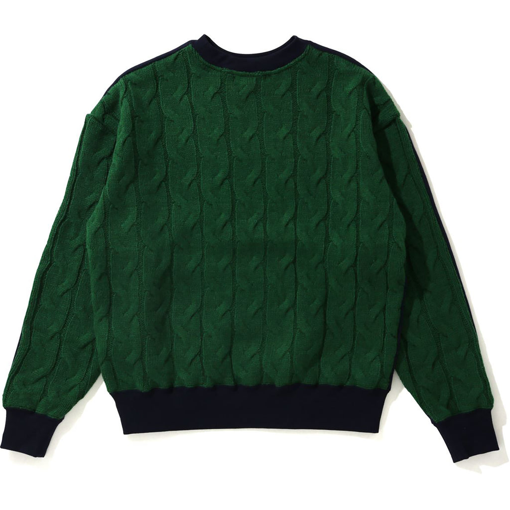 CABLE KNIT WIDE CREWNECK LADIES