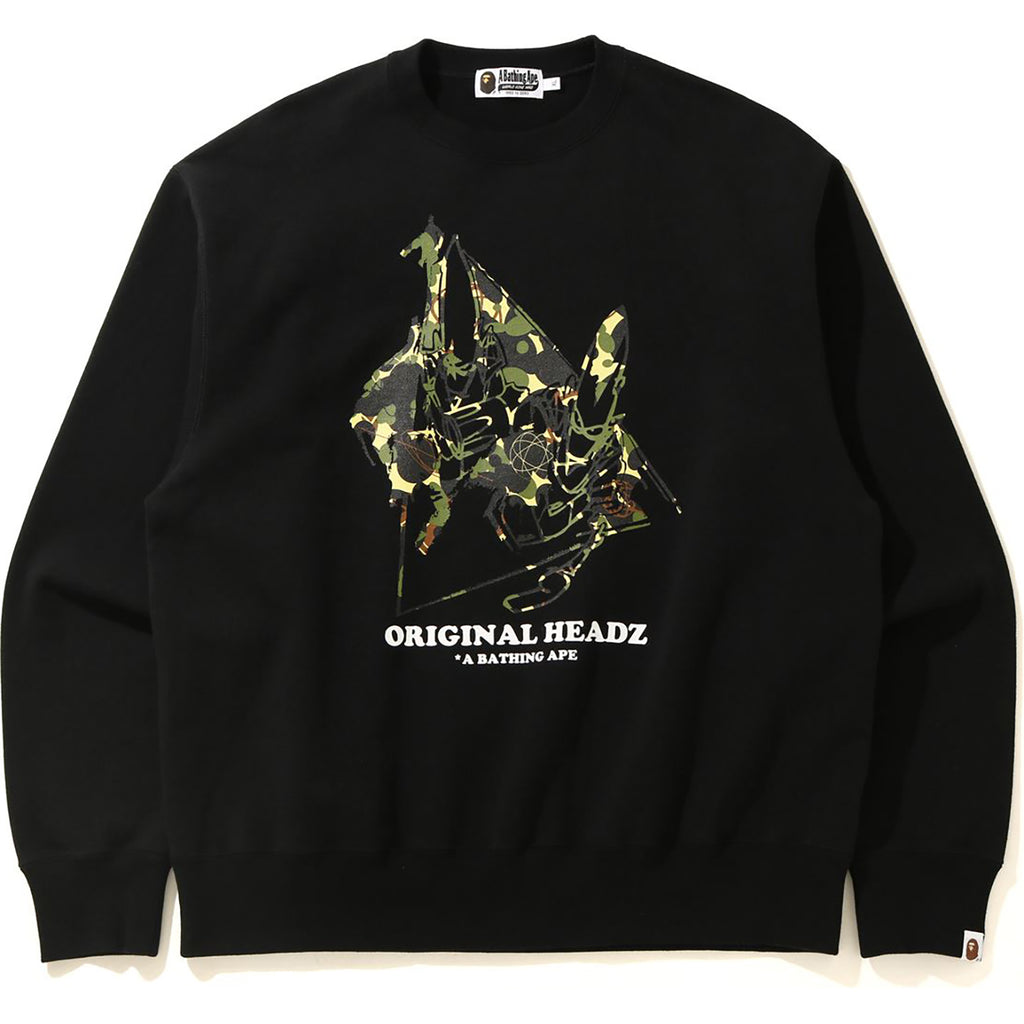 MO'WAX UNKLE X BAPE POINTMAN RELAXED CREWNECK MENS
