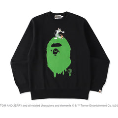 BAPE X TOM AND JERRY PAINTING CREWNECK MENS