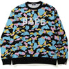 NEW MULTI CAMO BAPE RELAXED CREWNECK MENS