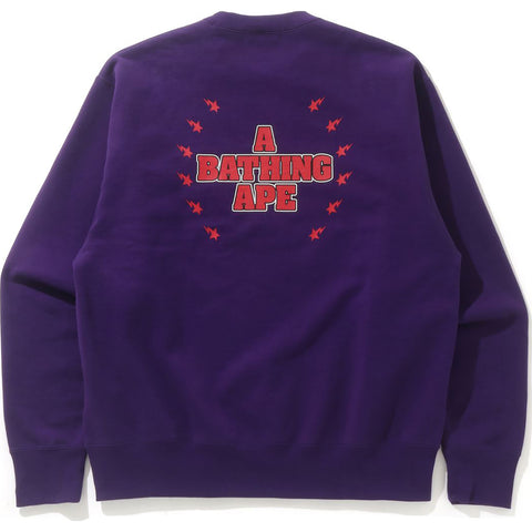 BAPE CRYSTAL STONE RELAXED CREWNECK MENS