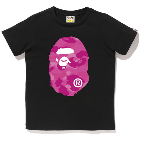 COLOR CAMO BIG APE HEAD TEE /L