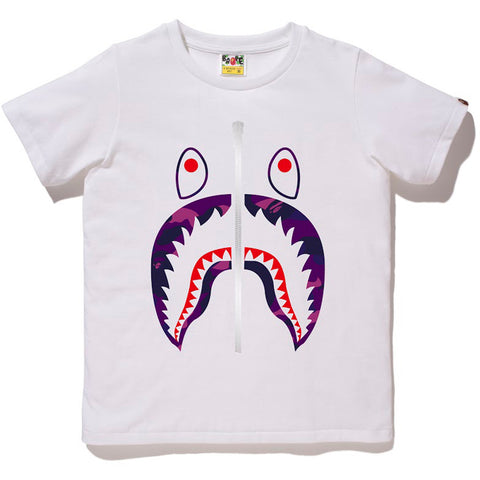 COLOR CAMO SHARK TEE /L