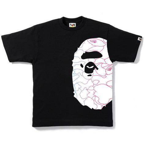 PENCIL NEON CAMO SIDE BIG APE TEE M
