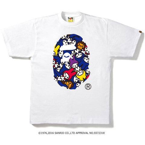 MY MELODY APE HEAD TEE M