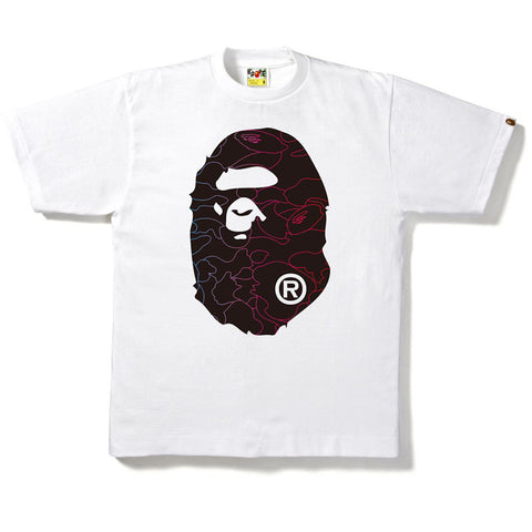 PENCIL NEON CAMO BIG APE HEAD TEE M