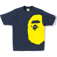 BICOLOR SIDE BIG APE HEAD TEE MENS