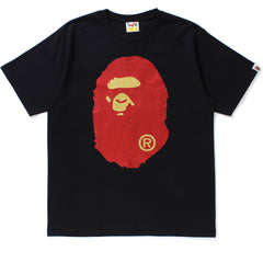 GLITTER BIG APE HEAD TEE MENS