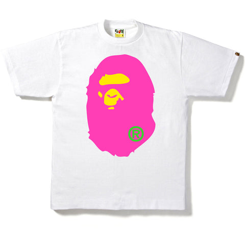 NEON BIG APE HEAD TEE MENS