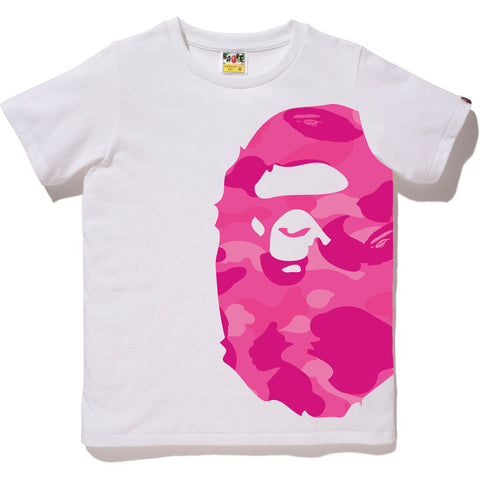 COLOR CAMO SIDE BIG APE HEAD TEE LADIES