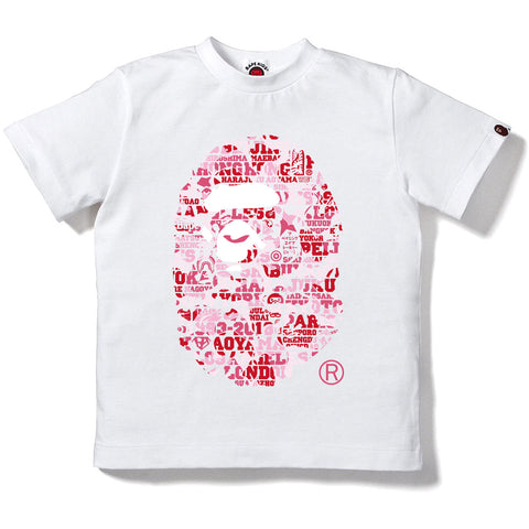 BAPE XXV CITIES CAMO APE HEAD TEE KIDS