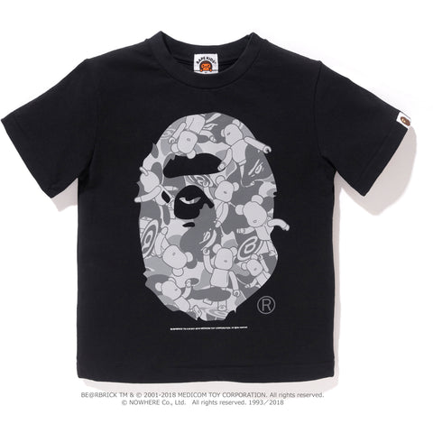 APE HEAD BE@RBRICK TEE K (MEDICOMTOY) KIDS