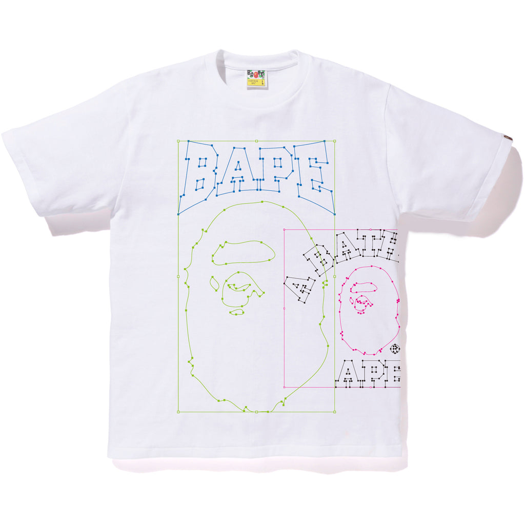 BAPE PASTE AND PLACE TEE MENS