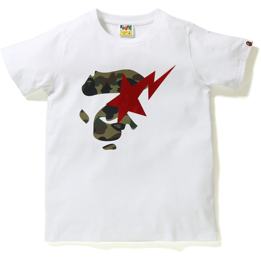 1ST CAMO APE FACE ON BAPESTA TEE LADIES