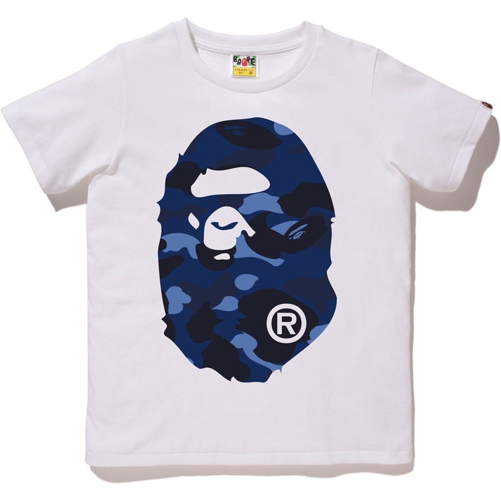 COLOR CAMO BIG APE HEAD TEE LADIES