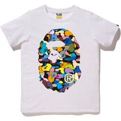 MULTI CAMO BIG APE HEAD TEE LADIES