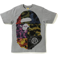 MIX CAMO BIG BIG APE HEAD TEE MENS