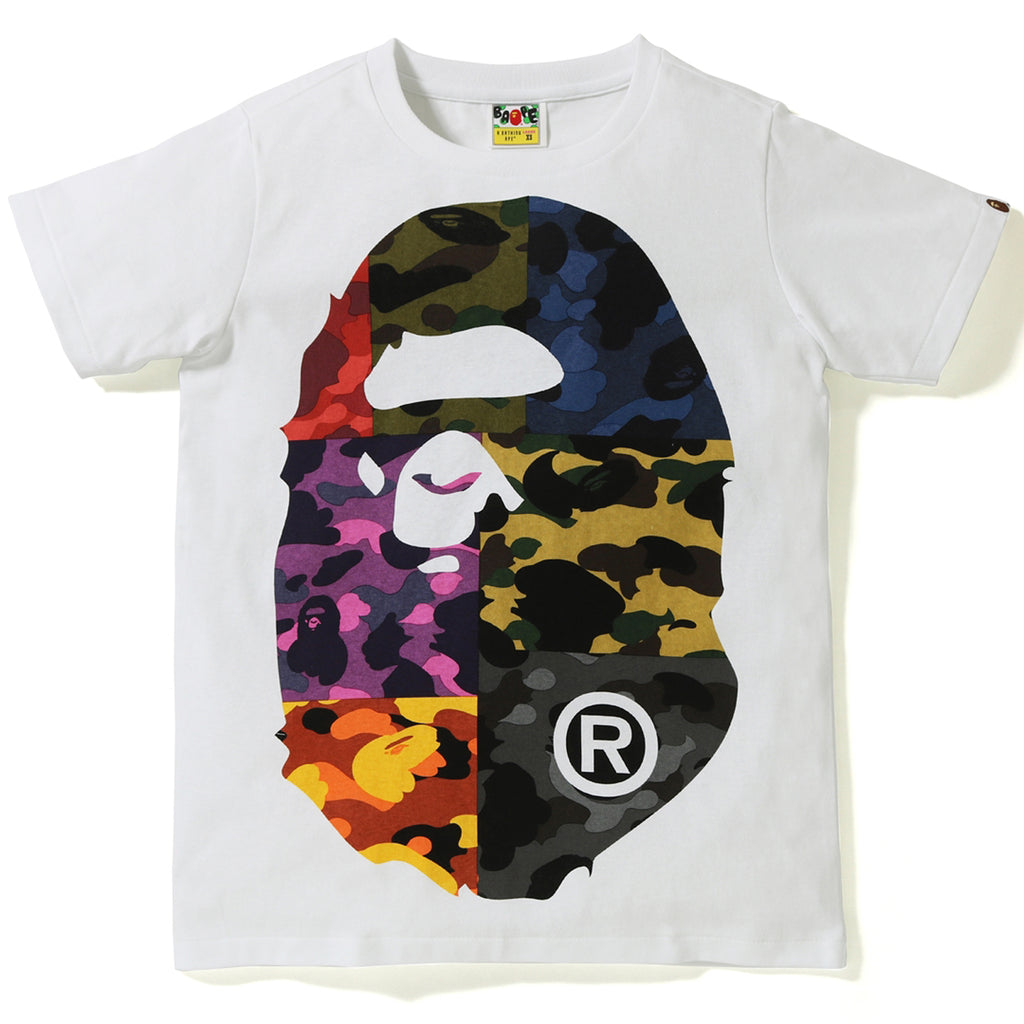 MIX CAMO BIG BIG APE HEAD TEE LADIES