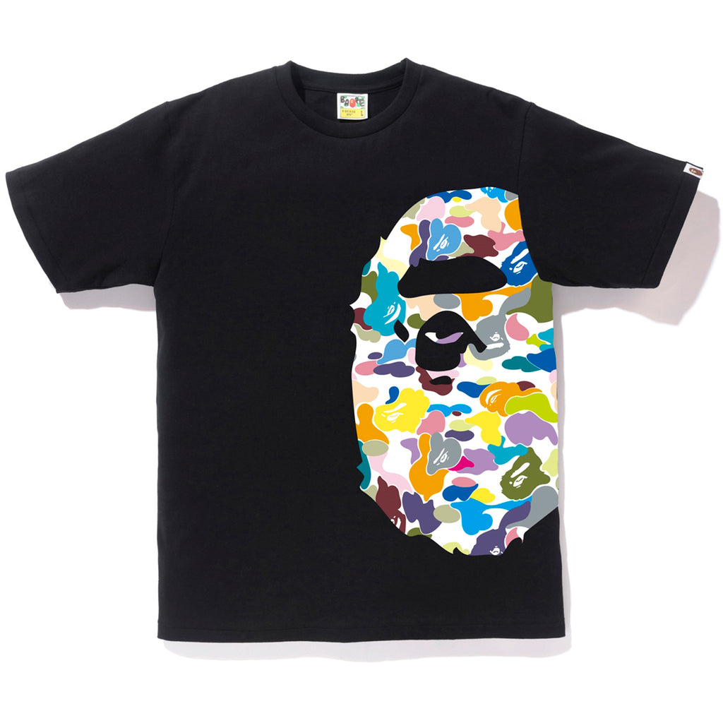MULTI CAMO SIDE BIG APE HEAD TEE MENS
