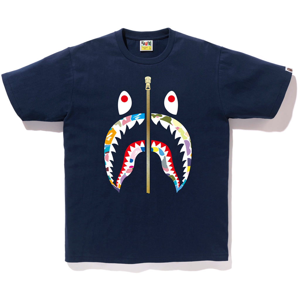 MULTI CAMO SHARK TEE MENS