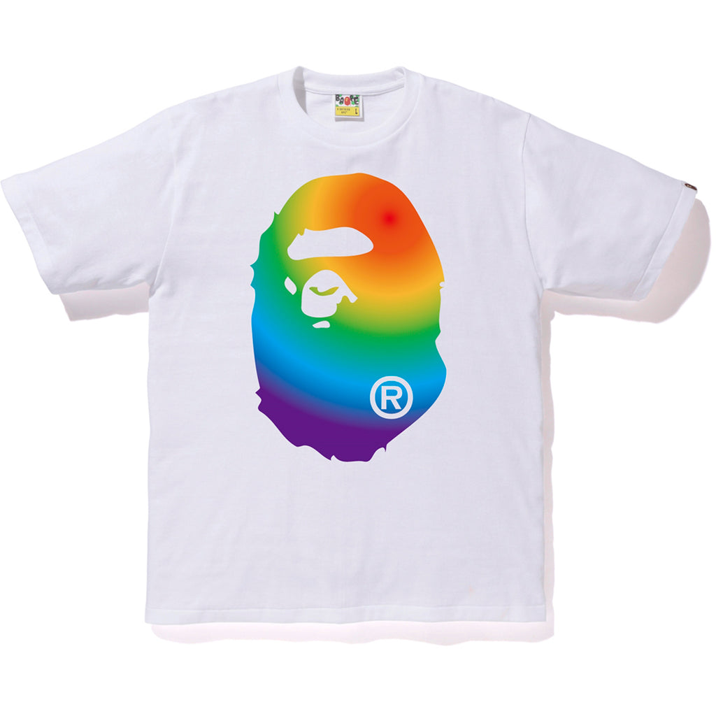 RAINBOW BIG APE HEAD TEE MENS