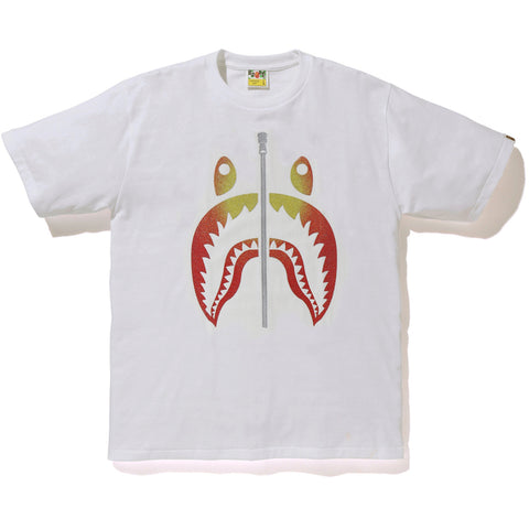 GLASS BEADS GRADATION SHARK TEE MENS