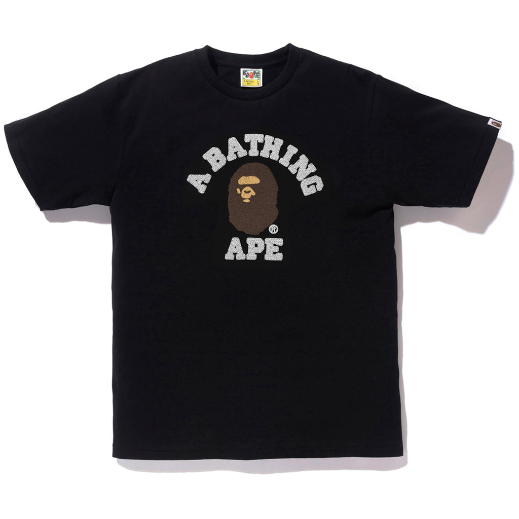 661033fbb EMBROIDERY STYLE COLLEGE TEE MENS | us.bape.com
