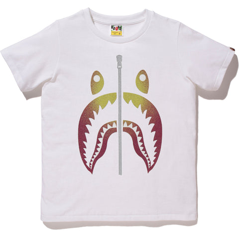 GLASS BEADS GRADATION SHARK TEE LADIES