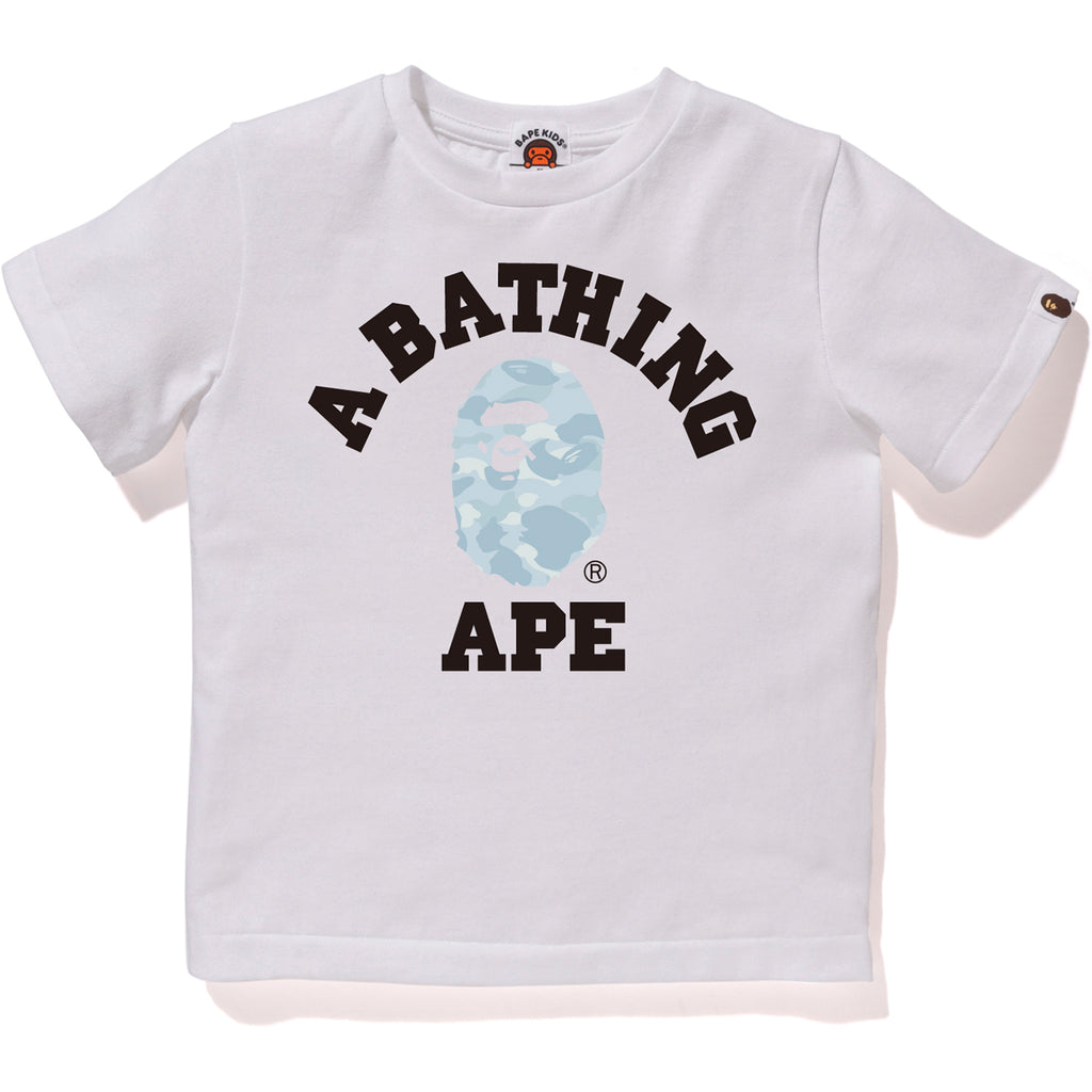 PASTEL COLOR CAMO COLLEGE TEE KIDS
