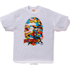 BAPE X MARVEL CAMO BLACK WIDOW TEE MENS