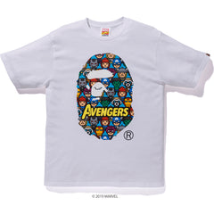 BAPE MARVEL AVENGERS APE HEAD TEE MENS