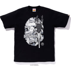 BAPE X MARVEL CAMO IRON MAN EX TEE MENS